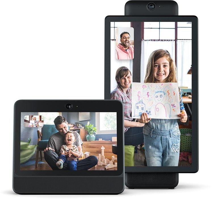 """Facebook представила экраны Portal и Portal+ для видеочата"""""""