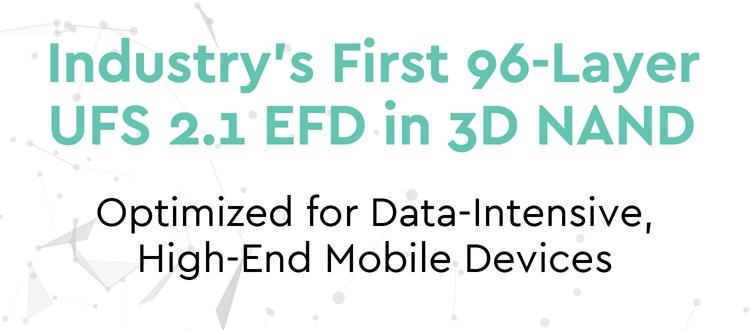 """Western Digital создала первый 96-слойный модуль 3D NAND UFS 2.1 для смартфонов"""""""