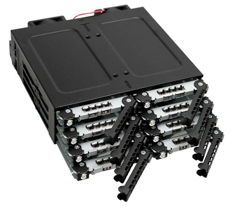 """Icy Dock ToughArmor MB998SK-B: восемь накопителей в 5,25"""" отсеке"""""""