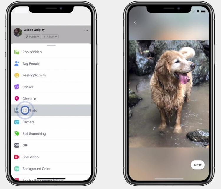 """Facebook внедрила поддержку 3D-фотографий на смартфонах"""""""
