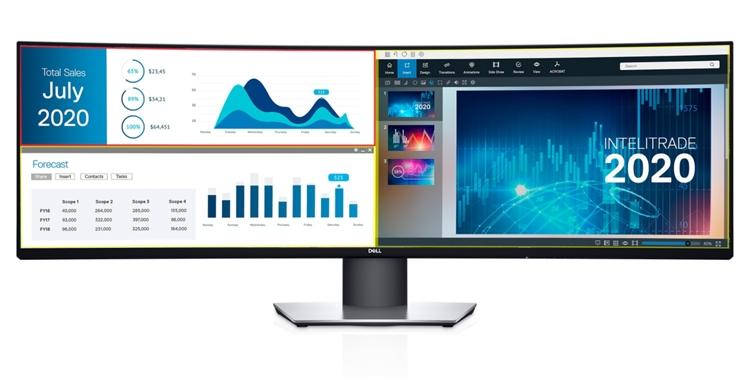 """Dell UltraSharp U4919DW: монитор Dual QHD размером 49 дюймов"""""""