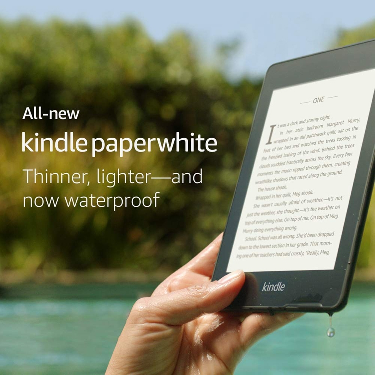 Новая электронная книга Kindle Paperwhite не боится воды""