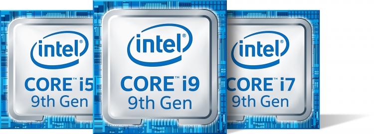 Логотипы процессоров Intel Core девятого поколения