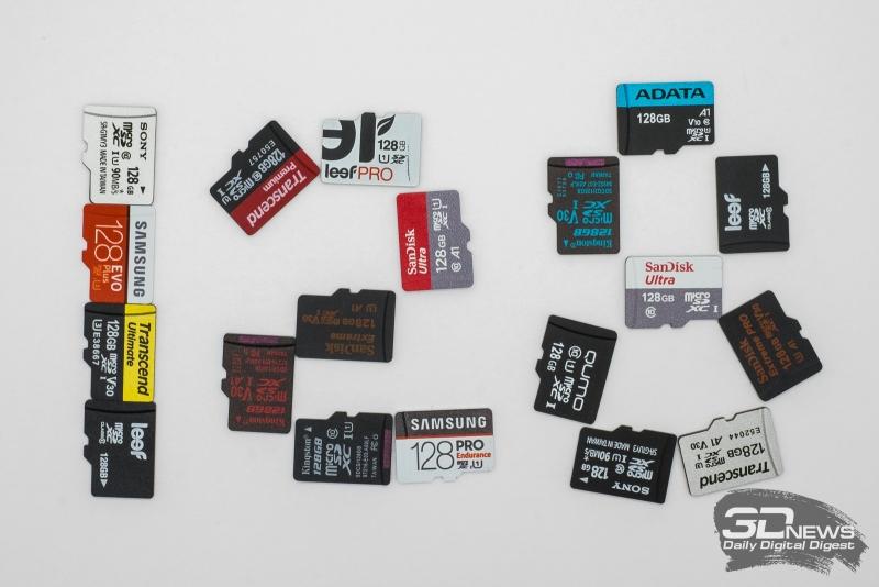Лучшие карты microSD объёмом 128 Гбайт: сравнительный тест 20 моделей