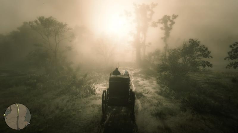 Туман на болотах Сен-Дени такой густой, что хоть ножом режь