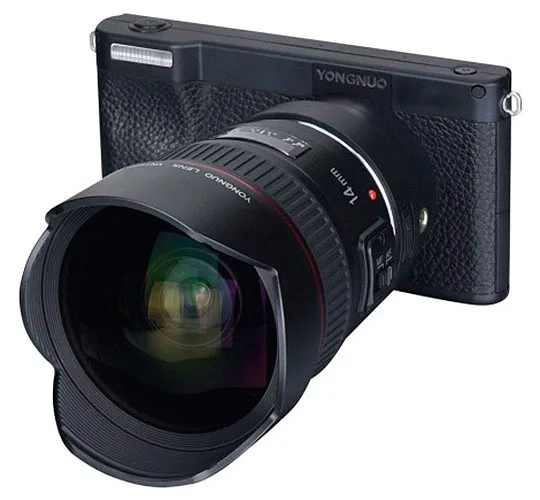 "Yongnuo YN450: беззеркальная камера с «начинкой» от смартфона и поддержкой объективов Canon EF"""
