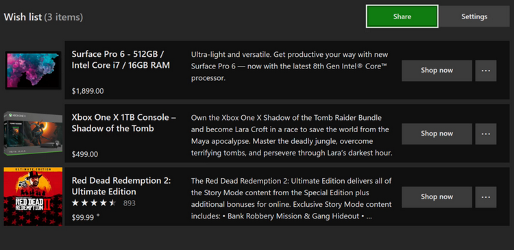 """Обновлённые корзина и список желаемого вернутся в Microsoft Store для ещё одного тестирования"""""""