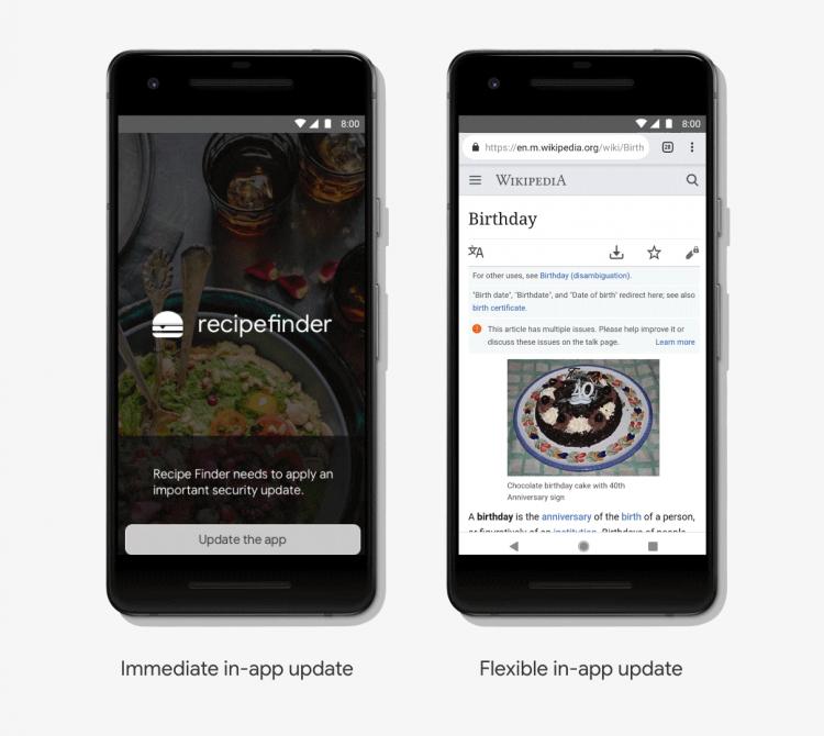 Google Play перестанет обновлять приложения во время их использования