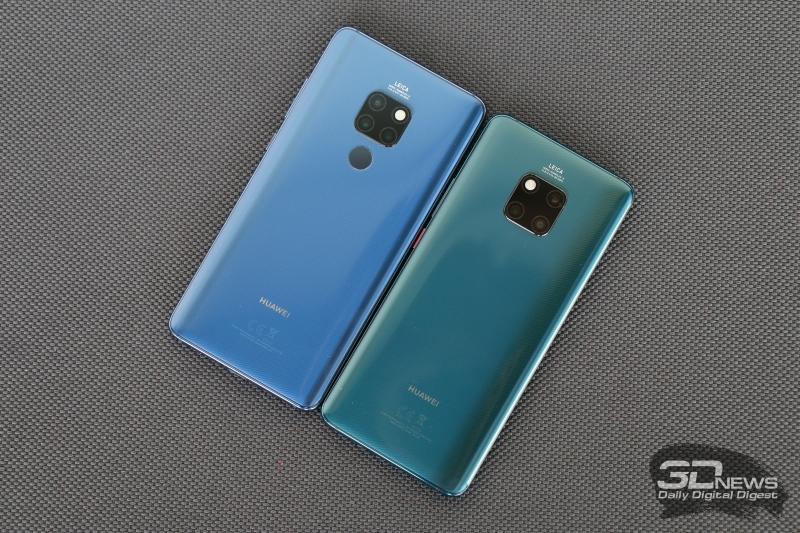 Huawei Mate 20 (слева) и Huawei Mate 20 Pro (справа)