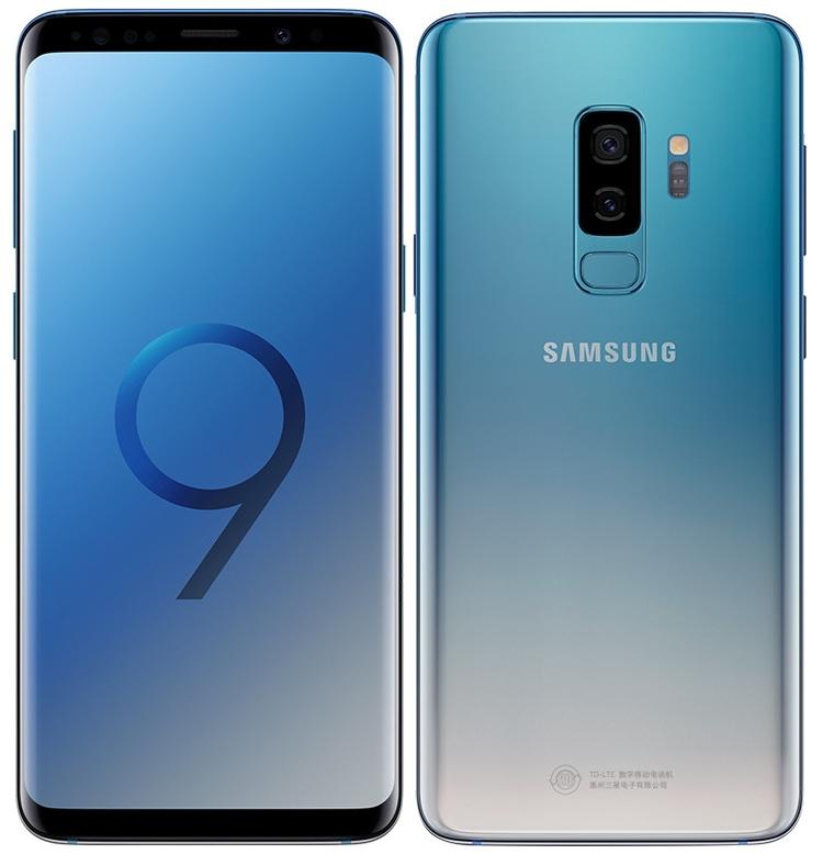"""Смартфоны Samsung Galaxy S9 и S9+ предстали в градиентном цвете Ice Blue"""""""