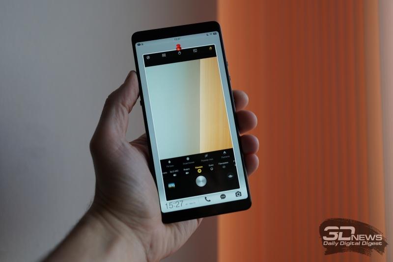 Smartisan U3 Pro с приложением камеры на экране блокировки
