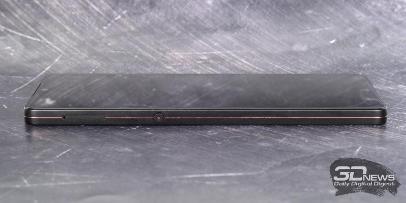 Smartisan U3 Pro, левая грань: слот для двух карточек стандарта nano-SIM и клавиша вызова вкладки «Записки» (Idea Pills)