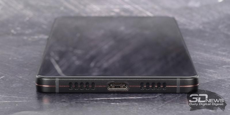 Smartisan U3 Pro, нижняя грань: основной динамик и порт USB Type-C