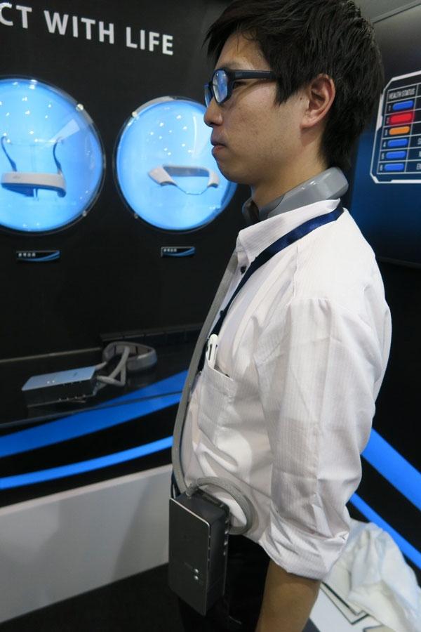 """Fujitsu General создала нашейный кондиционер с жидкостным охлаждением"""""""