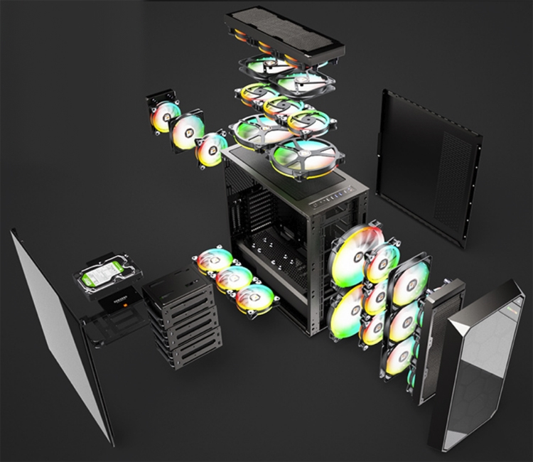 """Корпус Xigmatek Zest поддерживает видеокарты длиной до 430 мм"""""""