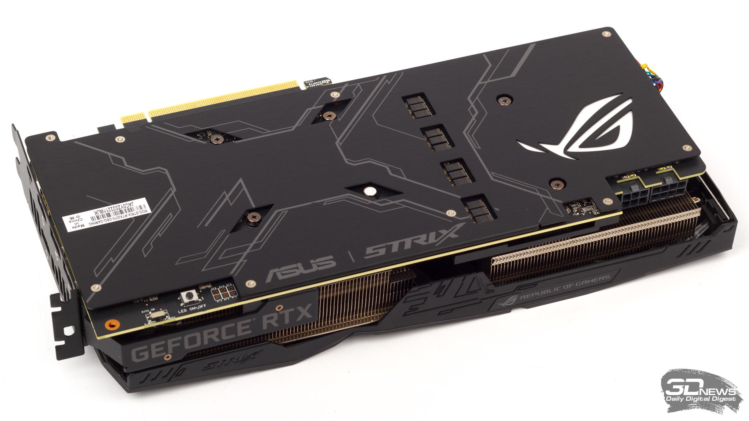 Обзор видеокарты ASUS ROG Strix GeForce RTX 2070 OC: младший