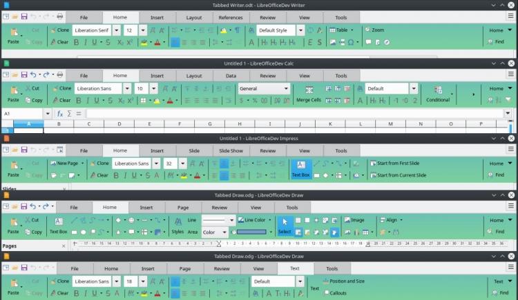 Новый дизайн пользовательского интерфейса Notebookbar