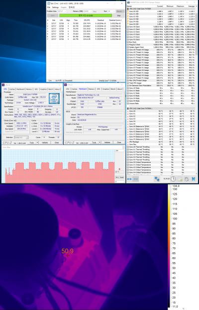 GIGABYTE Z390 AORUS PRO (Core i7-8700K, номинальный режим работы)