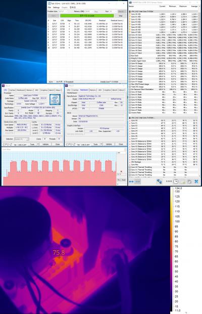 GIGABYTE Z390 AORUS PRO (Core i7-9700K, номинальный режим работы)