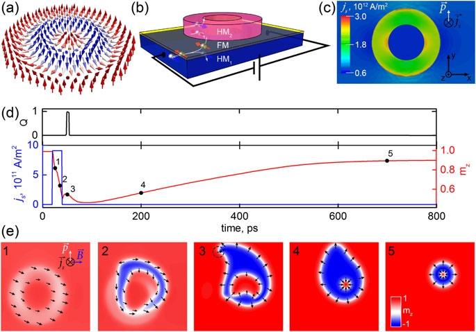 Зарождение скирмиониума с помощью спин-орбитальной передачи вращательного момета ()