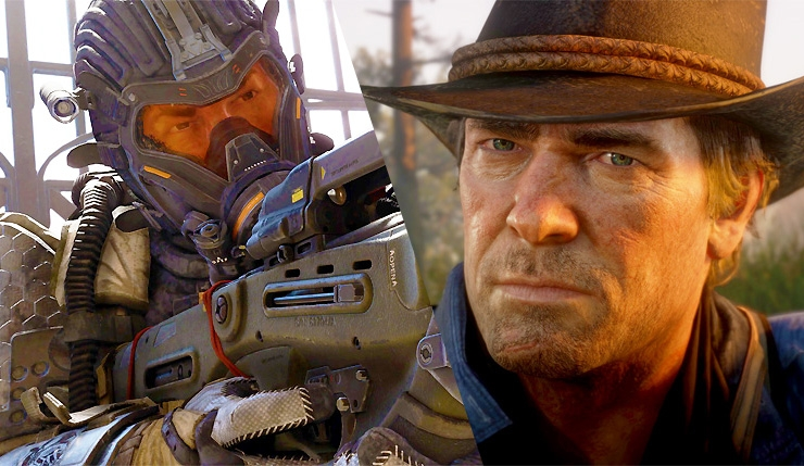 "Call of Duty: Black Ops 4 и Red Dead Redemption 2 сразились за первое место в американском чарте"""