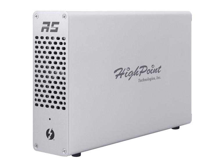 """Станция RocketStor 6661A-NVMe позволяет подключить к ноутбуку четыре накопителя М.2"""""""