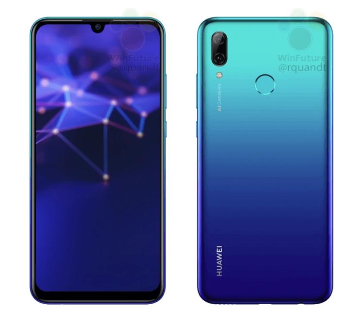 Huawei P Смарт (2019): рендеры, характеристики ицена