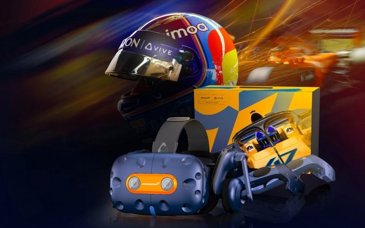 """Шлем HTC Vive Pro McLaren Edition для поклонников Формула 1 обойдётся в $1550"""""""