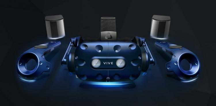 Обычный полный комплект HTC Vive Pro