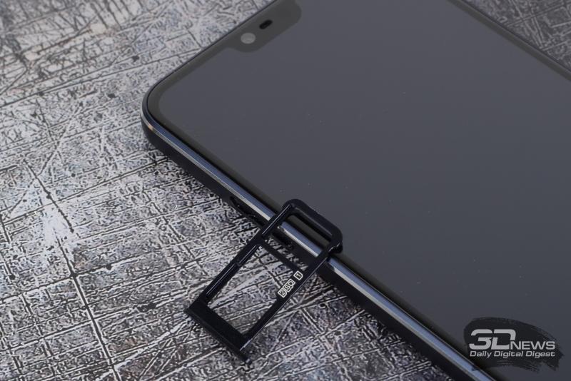 Nokia 7.1, нижняя грань: порт USB Type-C, основной динамик и микрофон