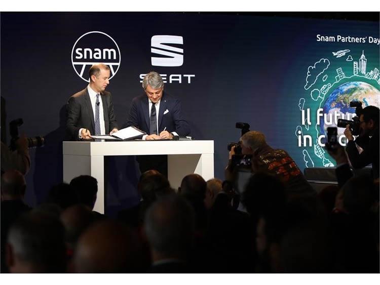 """Поставщик природного газа SNAM и Volkswagen будут развивать сети заправок для автомобилей на сжатом газе"""""""