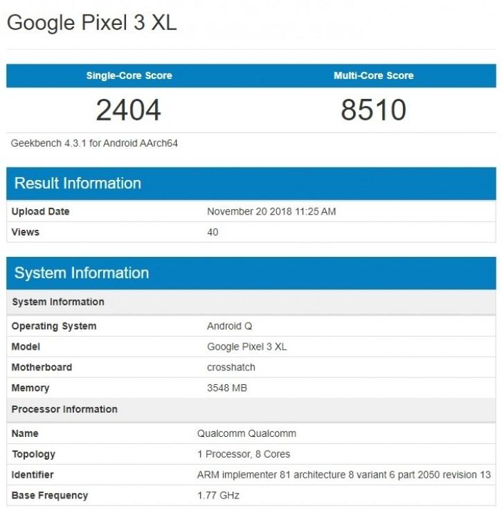 "Android Q уже тестируют наGoogle Pixel 3, 3 XL и Xiaomi Mi 8 SE"""
