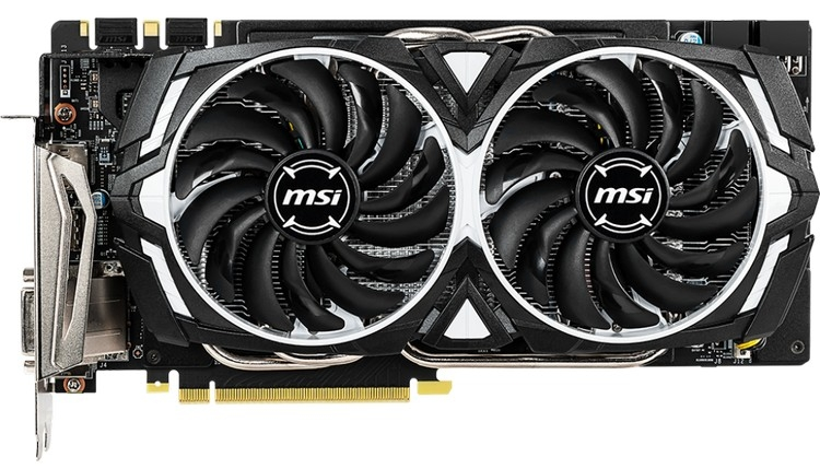 MSI представила видеокарту GeForce GTX 1060 Armor 6GD5X OC с памятью GDDR5X""