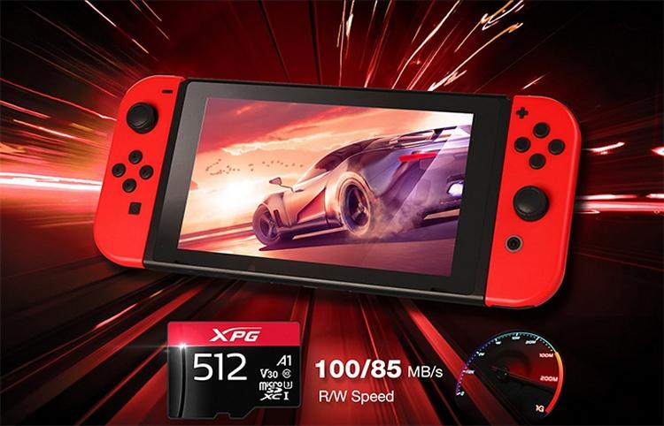 "ADATA представила microSD-карты XPG объёмом до 512 Гбайт для игровых устройств"""