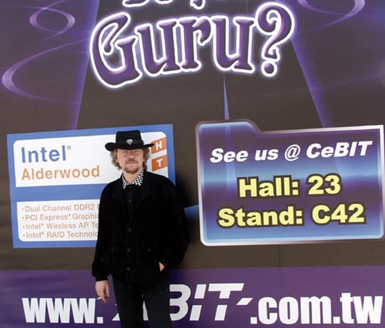 Андрей Кузин на CeBIT 2004