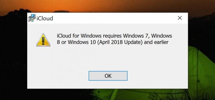 """iCloud снова можно устанавливать вWindows 10 October 2018 Update"""""""