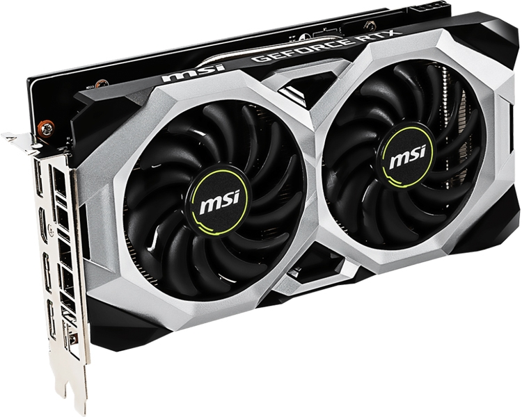 "MSI GeForce RTX 2070 Ventus 8G: видеокарта с вентиляторами TORX Fan 2.0"""