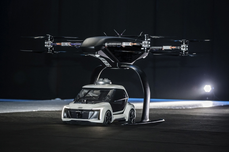 "Видео дня: прототип летающего такси Audi, Airbus и Italdesign"""