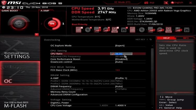 """Процессор AMD Athlon 200GE всё-таки поддаётся разгону"""""""