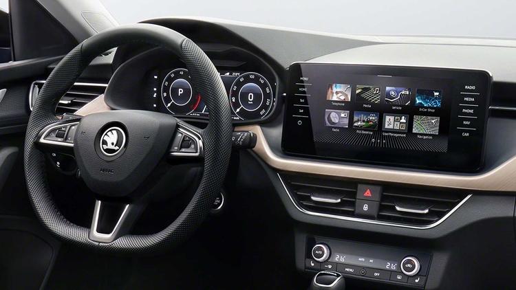"""Škoda показала интерьер нового поколения в автомобиле Scala"""""""