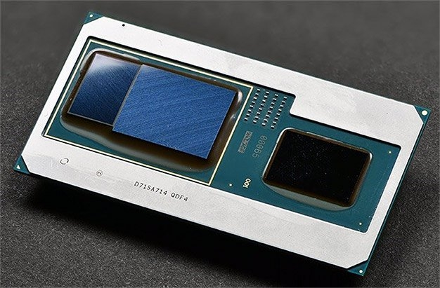 Упаковка Intel Kaby Lake G с дискретной графикой Radeon RX Vega