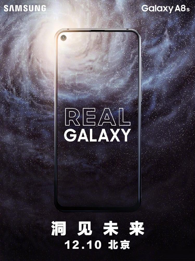 """Смартфон Samsung Galaxy A8s с экраном Infinity-O дебютирует 10 декабря"""""""