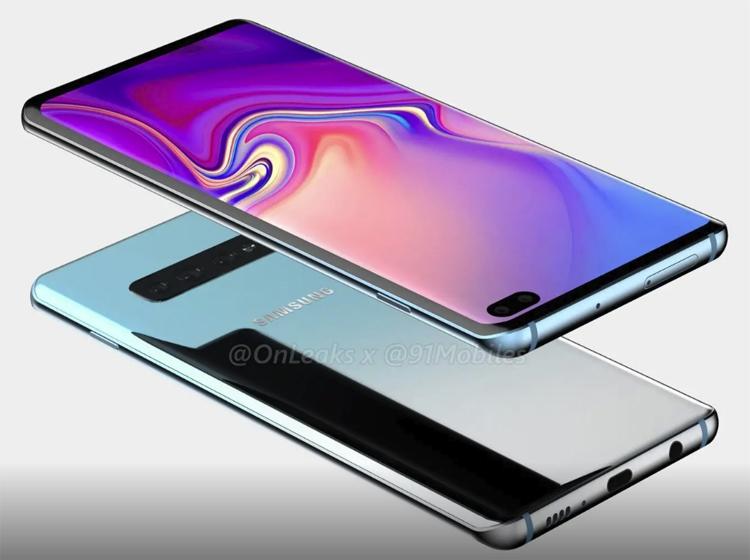 """Рендеры смартфона Samsung Galaxy S10+ говорят о наличии пяти камер"""""""