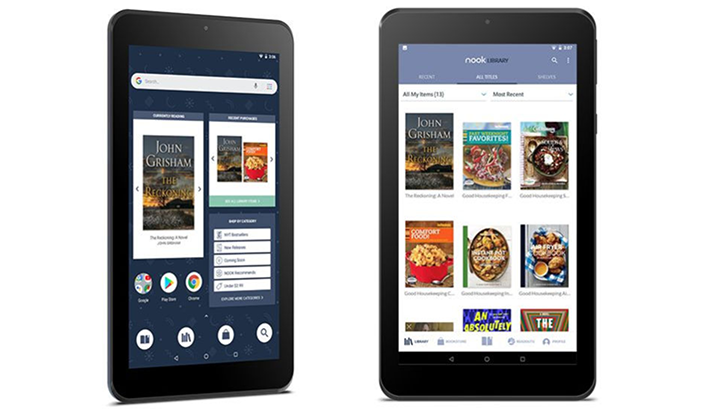"""Планшет Barnes & Noble NOOK 7"""" Tablet стоимостью $50 поддерживает Google Play"""""""