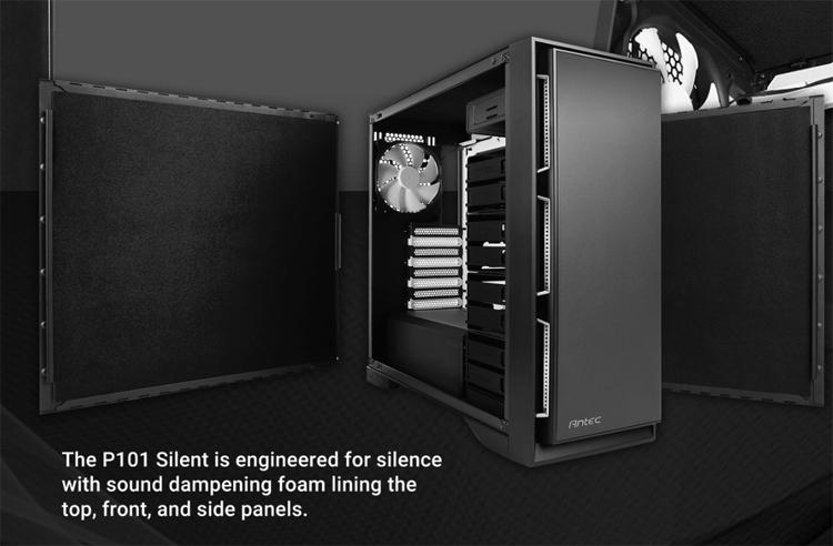 Корпус Antec P101 Silent поможет создать ПК с низким уровнем шума