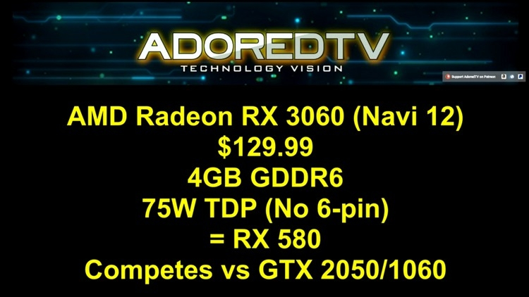 AMD Radeon RX 3080 (Navi): прямой конкурент GeForce RTX 2070 всего за $249""