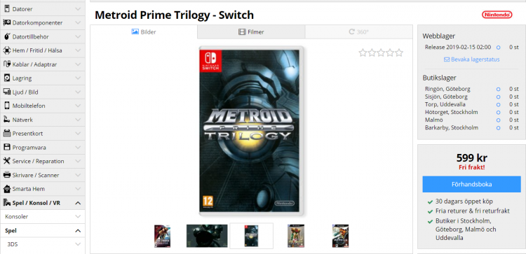 Слухи: Metroid Prime Trilogy для Nintendo Switch анонсируют на The Game Awards 2018""