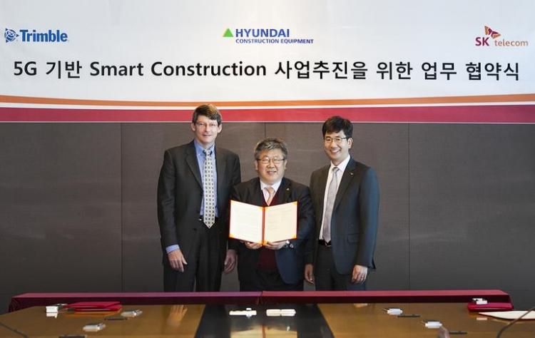 SK Telecom, Hyundai и Trimble будут использовать 5G в строительстве