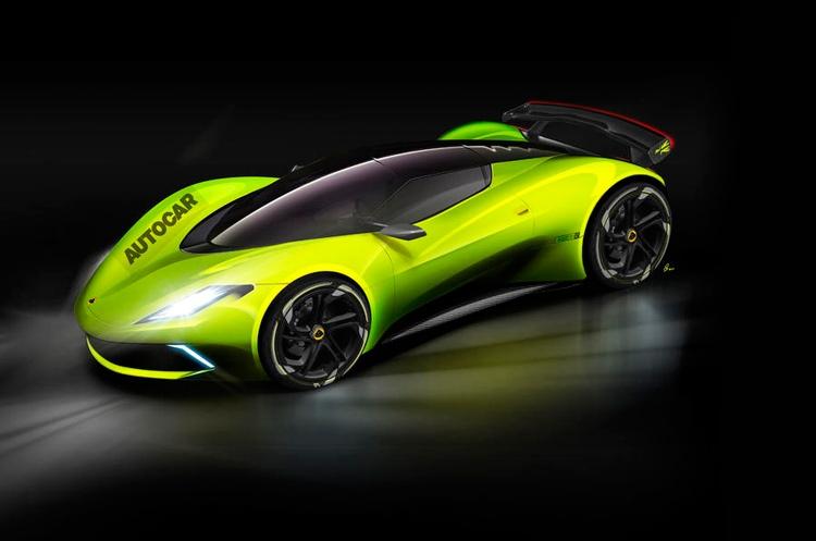Возможно, электрический гиперкар Lotus будет похож на машину на этом рисунке