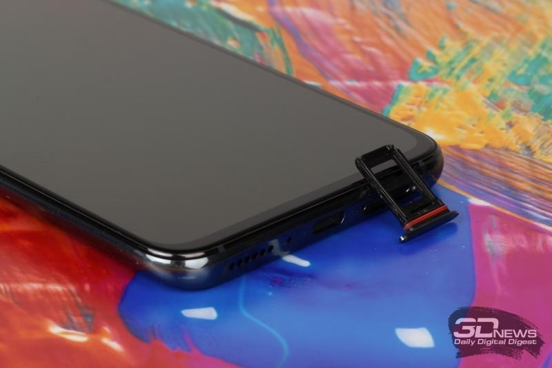 OPPO RX17 Pro, слот для SIM-карт